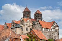 Castle hill with St. Servatius Church in Quedlinburg, Germany