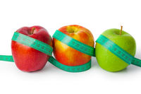 Apples and measuring tape