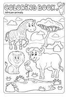Coloring book African fauna 5
