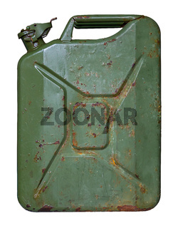 Isolated Grungy Jerry Can