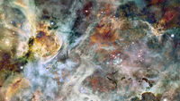 The Eagle Nebula in the space. Elements of this image furnished by NASA