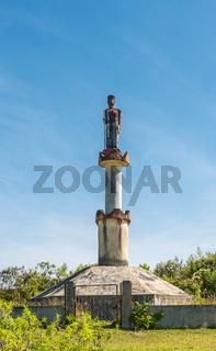 Skulptur der Batak auf der Insel Samosir auf Sumatra