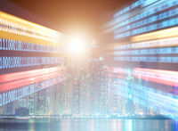 Concept of modern digital city and innovation