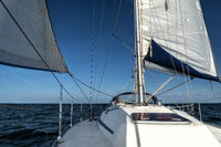 sailing on a sailing yacht