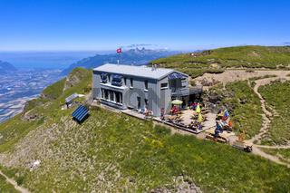 Berghütte Cabane de la Tourche, Morcles, Waadtländer Chablais, Waadt, Schweiz