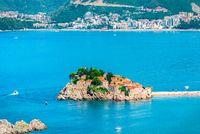 Sveti Stefan in the sea