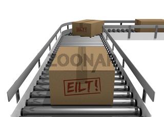 conveyor carton taxiway belts warehouse mail transport