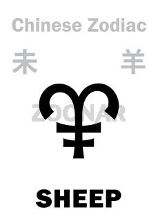Astrology: SHEEP / GOAT (sign of Chinese Zodiac)