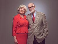 Happy elderly seniors couple