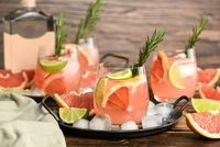 fresh grapefruit and lime cocktail