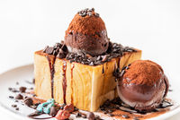 Honey Toast Chocolate ice cream