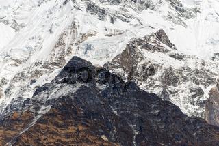 High mountain closeup