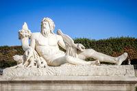 The Tiber statue in Tuileries Garden, Paris