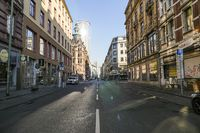 Deserted Street and Sidewalk in Bahnhofsviertel Frankfurt During Covid-19 Lockdown