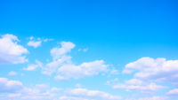 Panoramic view of the blue sky with white clouds