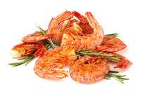 Grilled fried shrimps Langostino