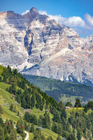 View of the Dolomites from Gardena Pass, South Tyrol, Italy
