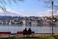 Couple at Lake Lugano