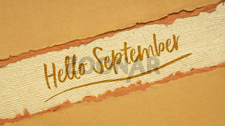 Hello September welcome note