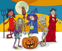 Halloween holiday cartoon funny characters group