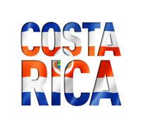 Costa Rican flag text font