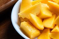 yellow mango on a dish