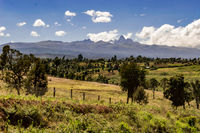 Panorama of Mount Kenya,