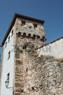 a tower of an old city wall