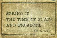 spring time Tolstoy