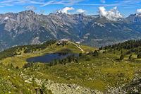 Am Bergsee Lac de Tracouet im Wandergebiet Haute-Nendaz, Nendaz, Wallis, Schweiz