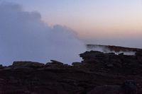 The edge of Erta Ale crater, Ethiopia