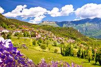 Idyllic village of Vesio in Dolomites Alps above Garda lake