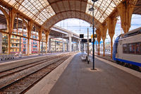 City of Nice central train station view