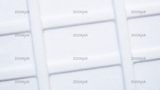 styrofoam background white