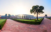 Agar Fort inside courtyard, morning view, India