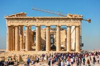 Parthenon in Acropolis in Athens