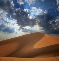 Big sand dune in Sahara desert