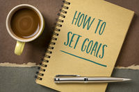 How to set goals text in notebook