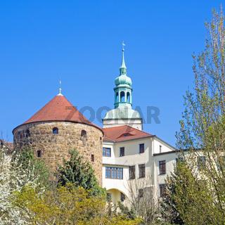 Altstadt von Bautzen mit Lauenturm und Röhrscheidtbastei, Sachsen, Deutschland
