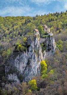 Schloss Bronnen im Donautal bei Fridingen
