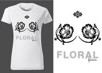 Frauen weißes Hemd Design mit floralen Elementen