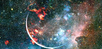 Starry deep outer space. Elements of this image furnished by NASA