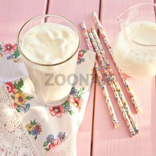 Frischer Joghurt in einem Glas