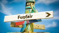Street Sign to Funfair