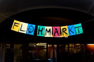 Schild Flohmarkt
