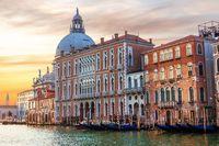Venice, Italy, view of the Canal and Santa Maria della Salute dome