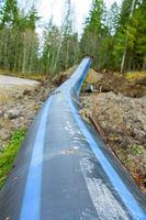 Plastic water pipeline