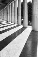 Perspective of classical greek columns