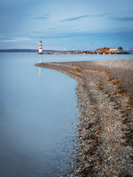Lighthouse at Podersdorf on lake Neusiedlersee in Burgenland