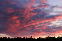 Dramatic evening sky in Dalsland, Sweden.